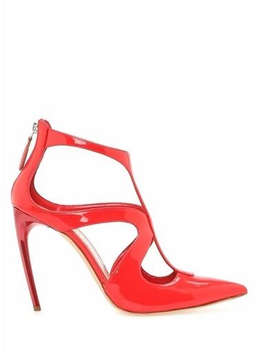 Alexander McQueen İnce Topuklu %100 Deri Ayakkabı Kırmızı